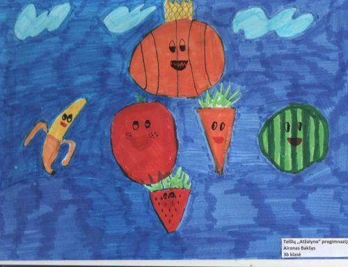 """Piešinių konkurso """"Daržovės ir vaisiai – mūsų mėgiamas maistas"""" laimėtojai"""